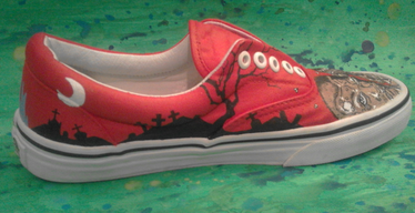 custome made painted shoes The Walking Dead Graveyard