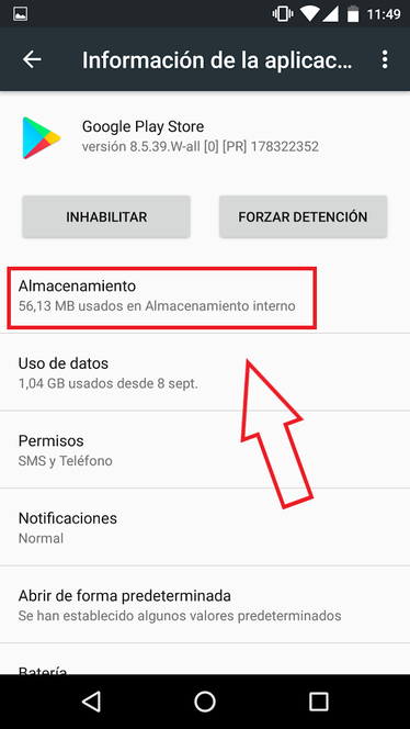 Borrar Caché Y Datos De Google Play Store