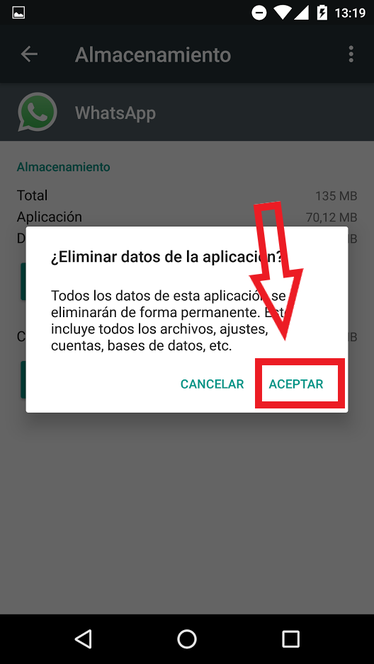 Borrar Datos De WhatsApp