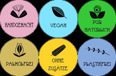Handgemacht Vegan Pur Natürlich Palmölfrei ohne zusätze Plastikfrei