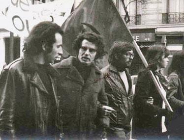 Daniel Bensaïd, Alain Krivine, Paris 1972