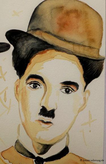 Chaplin gemalt mit Kaffee, 2019
