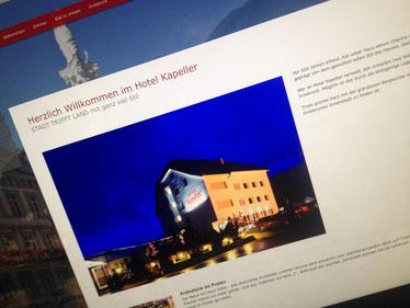 Homepage Texte die Emotionen wecken von Adriane Gamper für das Stadthotel Kapeller in Innsbruck