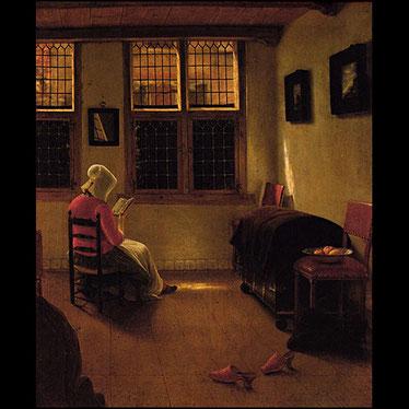 """""""Mujer leyendo"""", de Pieter Janssens."""