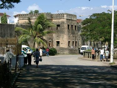 Il forte arabo di Stone Town a Zanzibar. Costruito dagli omaniti, servì a contrastare le aggressioni portoghesi.