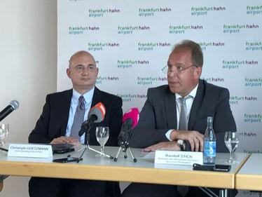Christoph Goetzmann (left) and Randolf Stich briefing the media  -  courtesy HHN