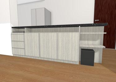 キッチン収納 オーダー家具 カップボード