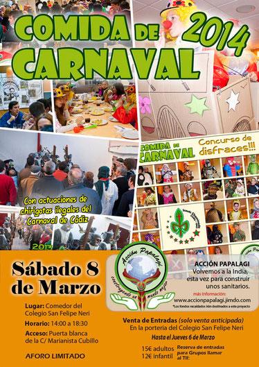 Cartel comida solidaria de carnaval 2014 - Grupo Scout Chaminade