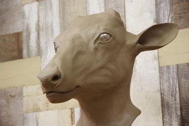 アメリカアカシカの粘土原型