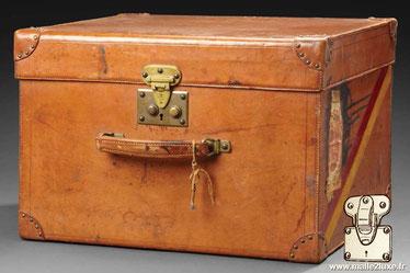 Goyard leather suitcase Year: Around 1910