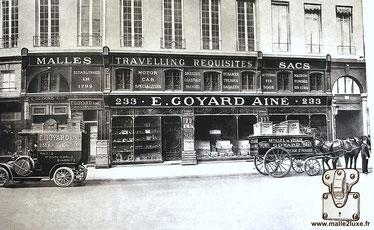 GOYARD TRUNK HISTORY shop Paris 233 rue saint honoré