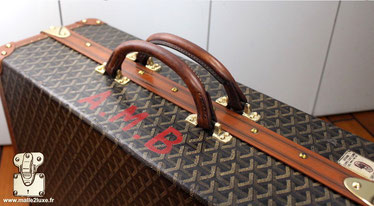 luxury handle shoe case goyard a chevron gum arabic vegetable tanning