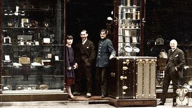 In  1979 , when Robert died,  Jean Edmond Francois history goyard trunk shop old time