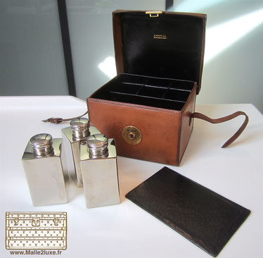 Small Goyard bottle box leather and silver box trunk