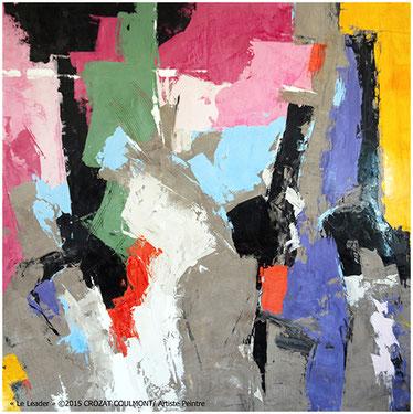 Artiste peintre fran ais peinture d 39 art abstrait crozat for Artiste art abstrait