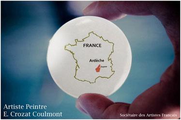 Ardèche/ Le Peintre Crozat Coulmont- Atelier à Soyons (07130) Proche Valence (26000) Drôme
