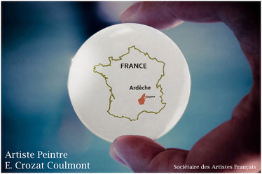 Ardèche Drôme Art Peinture- Artiste Peintre Crozat Coulmont- RhôneAlpes