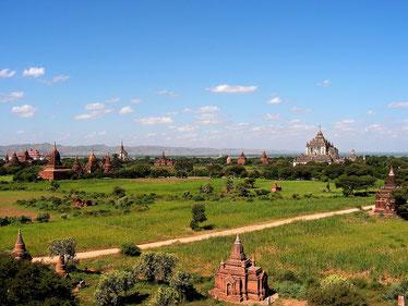 Pagodenfeld bei Bagan, Burma