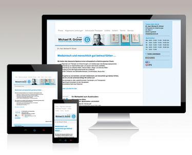 Website-/Template-Anpassung - Dr. med. Michael R. Grüner, Facharzt für Orthopädie & Unfallchirurgie