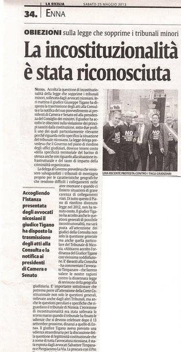 La Sicilia - 25 maggio 2013