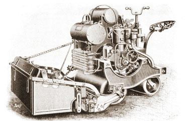 Tondeuse automobile 1904  (Blog Saint-Cannat Motoculture)