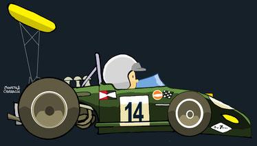 Jack Brabham by Muneta & Cerracín