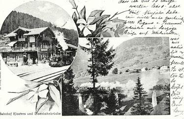 R. Dolf Bazar Klosters, gestempelt 04.03.1905
