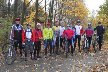 Die Teilnehmer des 1. RMC MTB-Wintertrainings 2014