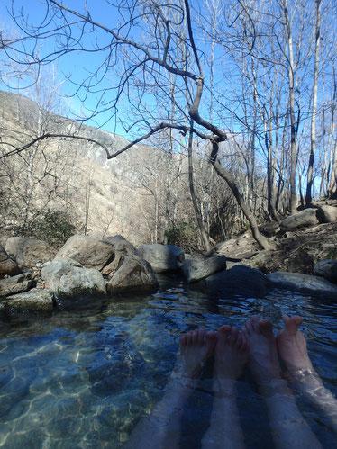 Hot springs near Fontpédrouse Catalan Pyrenees