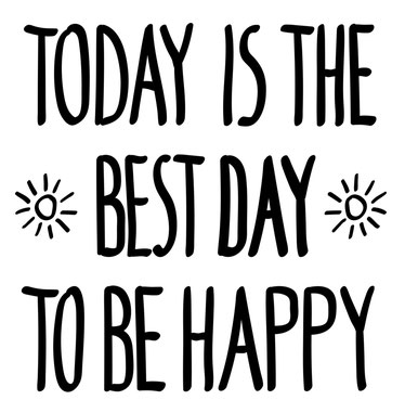 Text: Today is the best day to be happy