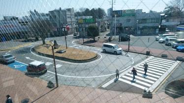 八街駅南口 ロータリーの安全対策(対策後)