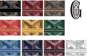 Today La Goyardine is available in 13 colors trunk goyard