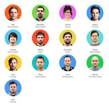 Das Team des Züricher Unternehmens Smallpdf. (Quelle: Screenshot von smallpdf.com)
