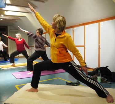 Foto von der Yoga Sportgruppe der TSV Morsum