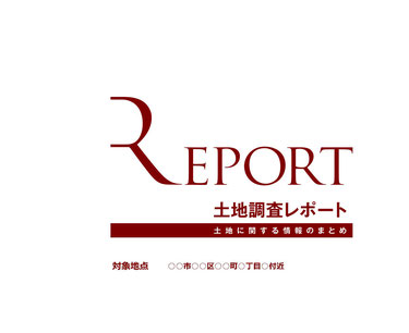 土地調査レポート