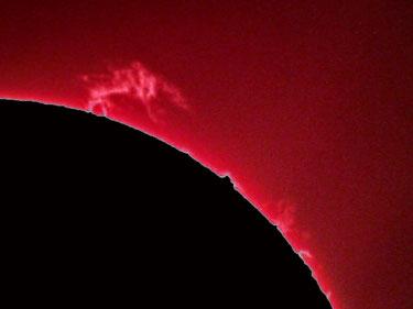 Ein Einzelbild einer Sonnenprotuberanz