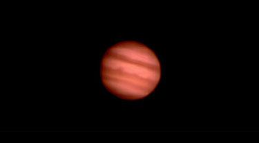 Jupiter bei mäßigem Seeing