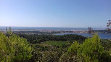 Maison de vacances en Languedoc-Roussillon - vue sur Gruissan du Massif de la Clape