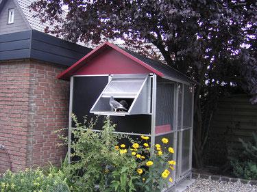 Das Dach wurde von unserem Kunden selbst angefertigt