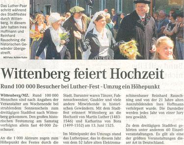 Artikel - Luthers Hochzeit 2006 - BSV Merkwitz