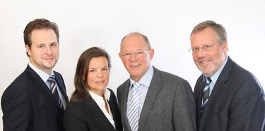 Ihre Steuerberater (v.l.n.r.) Kai Bathmann, Iska Paulsen, Bernd Kettelhodt & Carl-Joachim Langhein