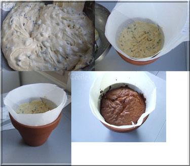 cuisson gateau dans pot en terre cuite