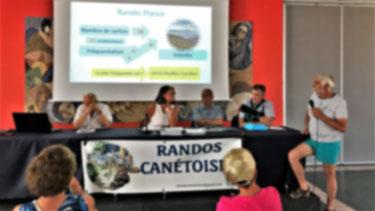 L'Assemblée Générale de Randos Canétoises  a réuni les adhérents le 25 juin 2018 à l'Ecoute du port à Canet