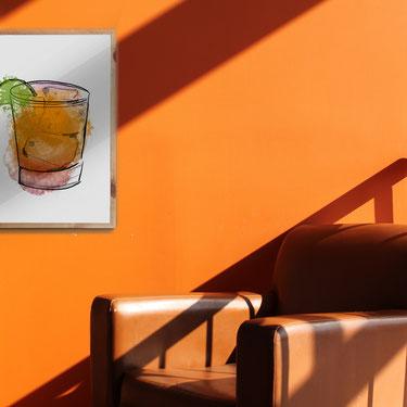 4one pictures - graphic poster - illustationen - bilder - farbenfroh - pics - wanddekoration - cocktails - bunt