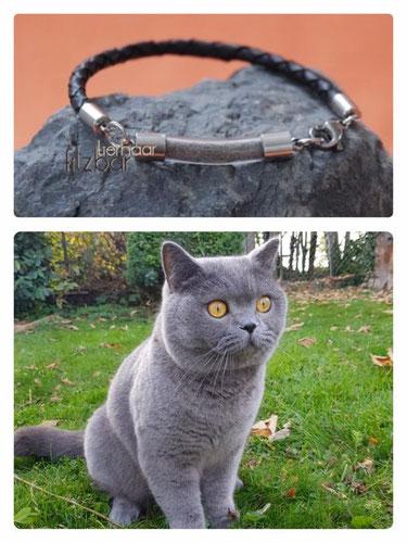 Armband aus Katzenhaar