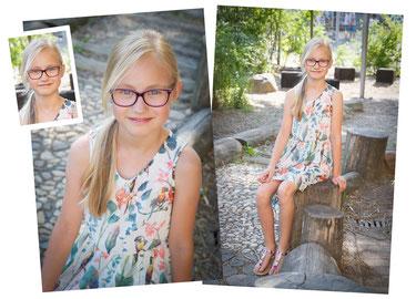 Fotoportraits einer Schülerin der 3. Klasse an einer Grundschule