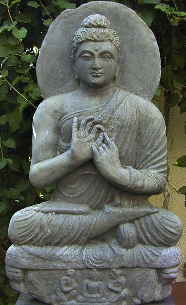 Steinfigur Lehrender Gandhara-Buddha