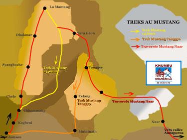 Circuits de treks au Mustang