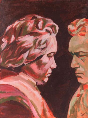 "Nr. 55 / CHRISTIANE GOLLATZ / ""Beethoven Begegnen"", Acryl auf Leinwand, 60x80cm, 350,-€"