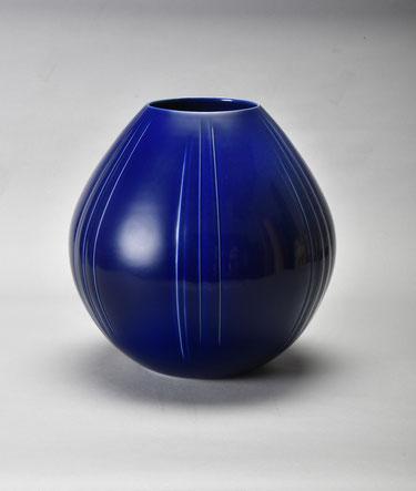 瑠璃釉壺  34×高33.6 (2018)